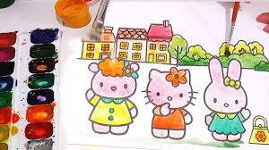 kitty coloring pages draw kitty coloring book