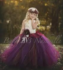 chocolate plum dress flower dress ivory dress tulle dress