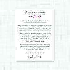 wedding gift letter 16 best wedding welcome bags images on wedding gift