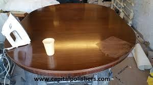 how to fix water damage on wood table capital polishers ltd furniture spraying kitchen spraying blog