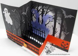 halloween fences karen u0027s kreative kards happy halloween z fold card