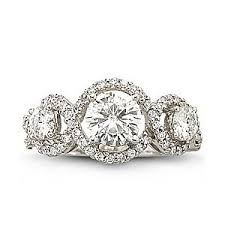 jcpenney wedding rings jcpenney moissanite 1 3 4 ct t w infinity ring