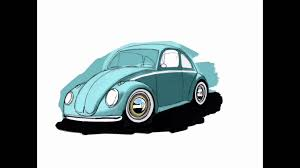 volkswagen drawing vw beetle drawing on ipad pro in procreate without apple pencil