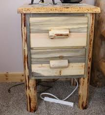 rustic nightstands u2013 great northern logworks