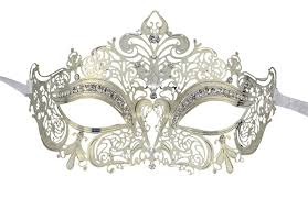 silver masquerade masks for women coofit metal laser cut wcrystals on masquerade mask