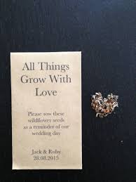 seed wedding favors amazing flower seeds wedding favors wedding ideas