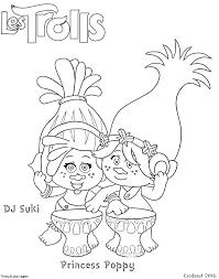 coloriage DJ Suki et Princesse Poppy  kolorowanki  Pinterest