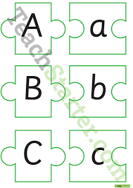 alphabet puzzles upper and lower case letter recognition