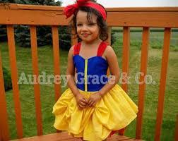 Girls Princess Halloween Costumes Snow White Costume Etsy