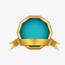blue and gold ribbon gold ribbon border polygon golden polygon frame png and vector