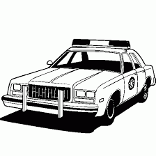 cars and vehicles coloring police car coloring picure online