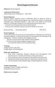 dental hygienist resume samples resumedoc