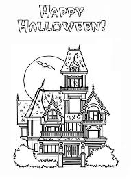 halloween haunted house coloring pages coloringstar