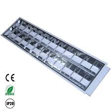 Office Ceiling Lights T8 Mirror Reflector Led Grille Louver Fitting Fluorescent Office