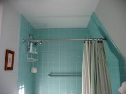 How To Hang Shower Curtain Shower Curtain Rod For Sloped Ceiling 8861