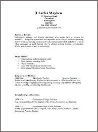 Resume Template Basic by Exles Of Resumes Sle Format Resume Exle Basic Basic