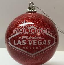 las vegas welcome sign glitter ornament direct order center