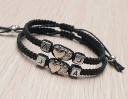 initials bracelet initials bracelet initials couples bracelet bracelet