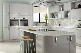 light grey kitchen platinum range kitchen company