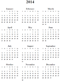 9 best images of 2014 yearly calendar template printable 2014