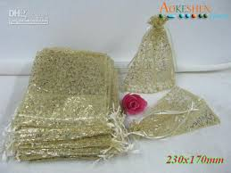 gold organza bags 20 gold organza glitter gift bag pouches 7x9 inch xc card box for