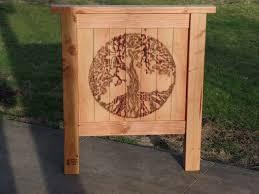 Western Red Cedar Outdoor Furniture by Buy A Handmade Customized Hand Carved Western Red Cedar Garden