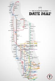 Green Line Boston Map by Manhattan Subway Date Map Date Ideas Bars Restaurants Thrillist