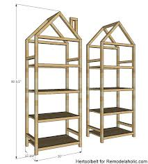 Remodelaholic Diy House Frame Bookshelf Plans