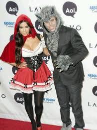 Wolf Halloween Costume Red Riding Hood U0026 Wolf Halloween Couple Costume Kim Kardashian