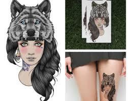 wolf headdress etsy
