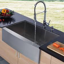 vigo stainless steel pull out kitchen faucet vigo industries vg02001mb universal matte black pro pre rinse
