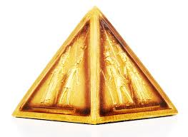 decorative gold pyramid ornament history and