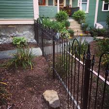 wrought iron fencing painted black