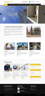 free responsive construction theme for company