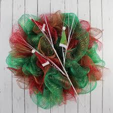 wreath supplies 70cm santa s hats spray deco mesh wreath supplies 69738
