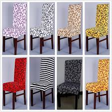 Dining Chair Cover Pattern Sure Fit Soft Stretch Spandex Pattern Chair Covers For Kitchen