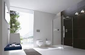 Black Bathroom Tiles Ideas Cheap Bathroom Remodel Ideas White Toilet On Gray Tile Floor Wall