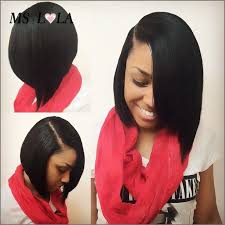 wigs medium length feathered hairstyles 2015 find more human wigs information about brazilian side part short