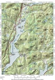 Topography Map Interstate 87 The Adirondack Northway Schroon Lake Topographic Map