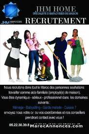 offre d emploi femme de chambre offre d emploi femme de ménage nounou cuisinière offres emploi