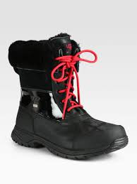 ugg sale saks lyst ugg butte laceup boots in black for