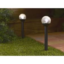 Patio Lights Uk 25cm Globe Light Large White Solar Crackle Glass For Garden