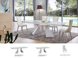 glass top extendable dining table ef92 modern dining