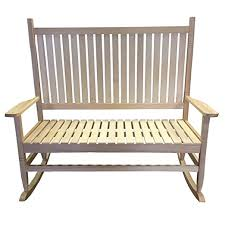 redstone natural wood rocking chair garden bench amazon co uk