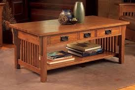 Solid Oak Coffee Table Furniture Murphy Bed Desk Plans Mission Solid Oak Coffee Table