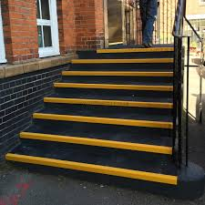 grp anti slip stair tread covers installed at primary grp