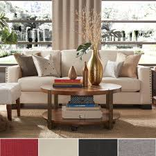 Chesterfield Sofa Linen by Torrington Linen Nailhead Track Arm Sofa By Inspire Q Red Linen
