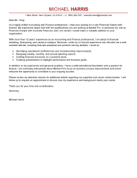 Examples Of Amazing Cover Letters Best Accounting U0026 Finance Cover Letter Examples Livecareer
