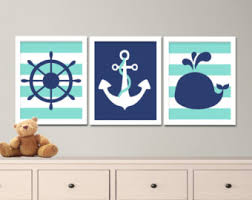 nautical nursery art etsy