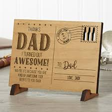 fathers day personalized gifts personalized s day wood postcard sending to